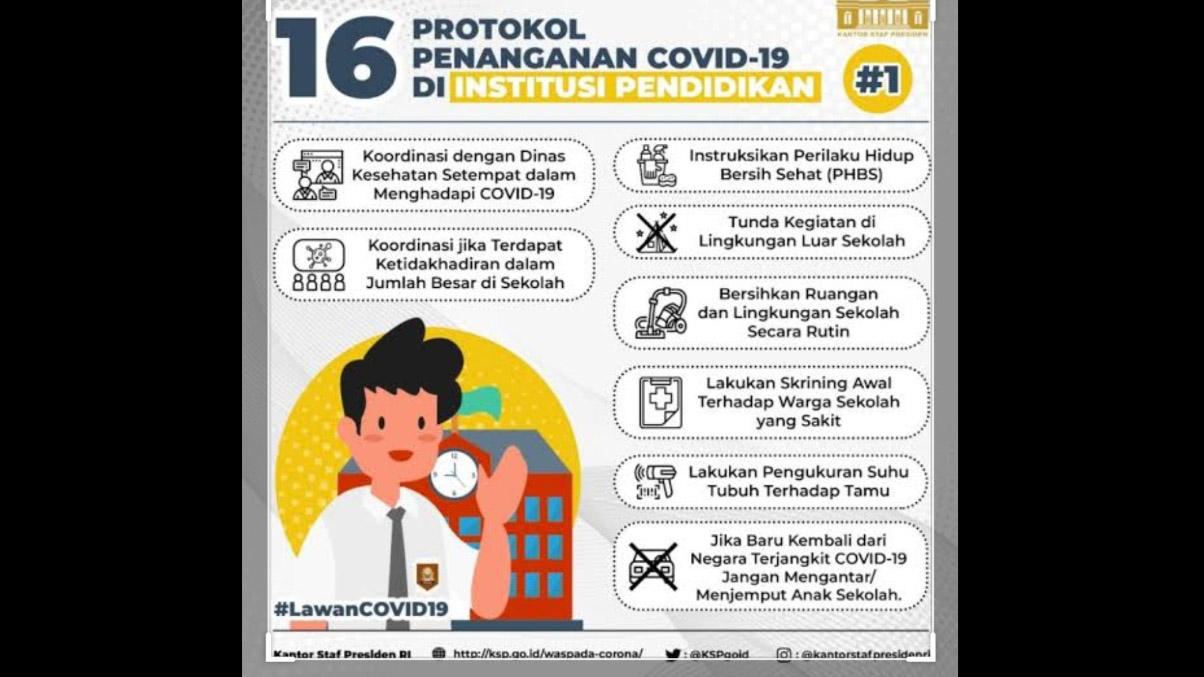 Pemerintah Terbitkan Pedoman Penanganan Covid-19 Area Institusi Pendidikan, Yuk Dibaca